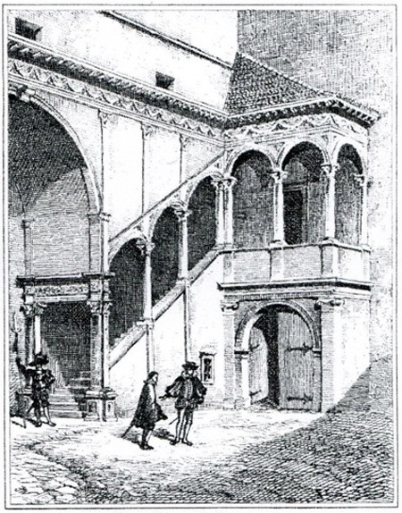 Domenico dell'Allio, Prunktreppe in der Grazer Burg, 1554