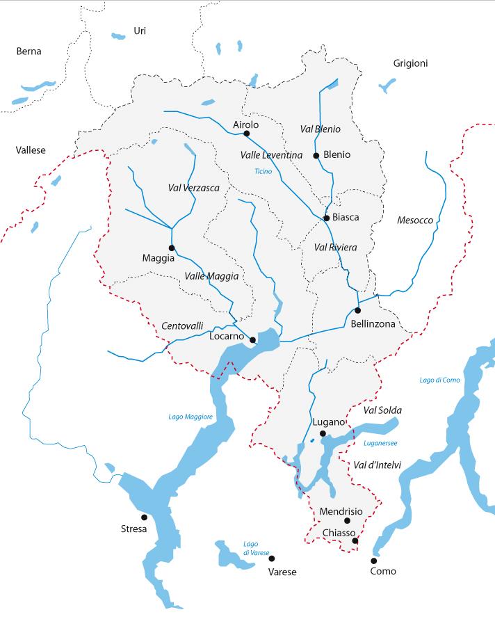 Cartina Ticino Svizzera.Cenni Storici Sull Emigrazione Artistica